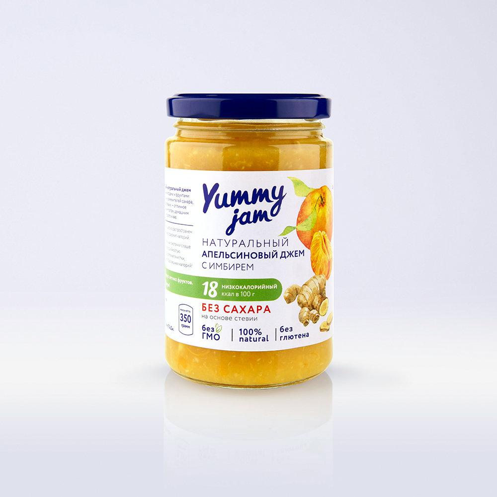 Низкокалорийный джем Yummy Jam апельсиновый с имбирем