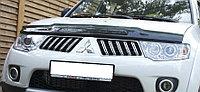 Мухобойка (дефлектор капота) EGR Mitsubishi Pajero Sport 2008-2015 широкий