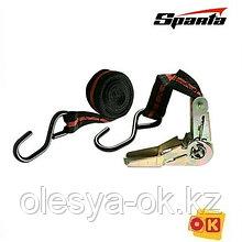 Ремень багажный с крюками, 5 м, храповой механизм Automatic. SPARTA