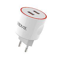 Зарядное устройство PLE210 VIDVIE с кабелем Type-C, фото 1