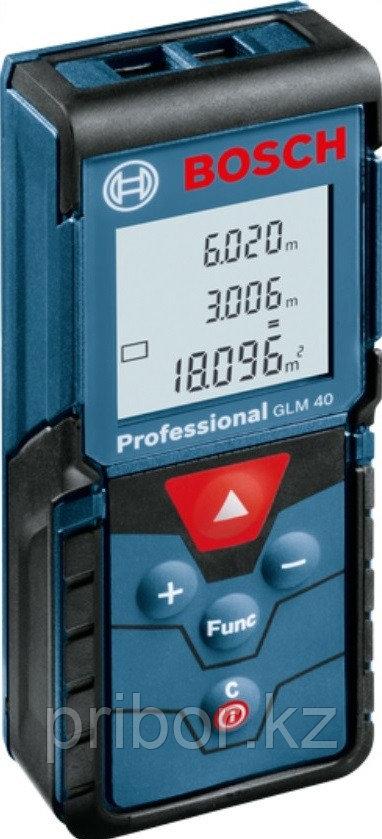 Профессиональный лазерный дальномер (40 м) Bosch GLM 40 Professional. Внесен в реестр СИ РК.