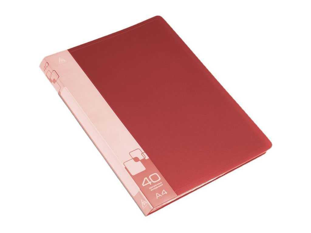 Папка с файлами БЮРОКРАТ на 40 вкладышей, красная
