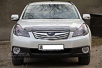 Мухобойка (дефлектор капота) Subaru Outback 2010-2014 (Euro type) (Carbon)