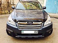 Мухобойка (дефлектор капота) Subaru Outback 2010-2014 (Euro type) OEM с логотипом