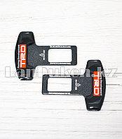 Заглушка для ремней безопасности Тойота TRD металл полимер 6см 2шт в комплекте