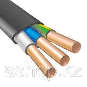 Кабель силовой АВВГ 3х4, Жила: Монолитный, Кол-во жил: 3, Материал жилы: Алюминий, Тип изоляции: ПВХ пластикат