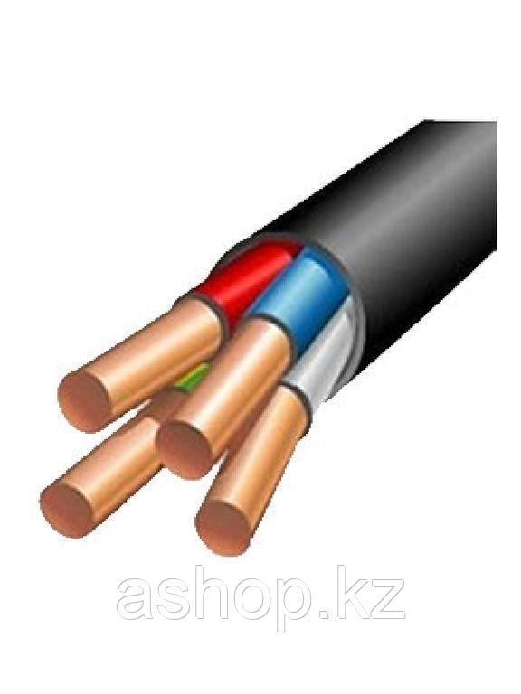 Кабель силовой АВВГ 3х4+1х2,5, Жила: Многопроволочная, Кол-во жил: 4, Материал жилы: Алюминий, Тип изоляции: П
