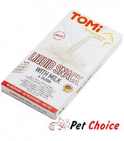 «TOMI» лакомство-соус для кошек 10шт*10гр. молоко + таурин