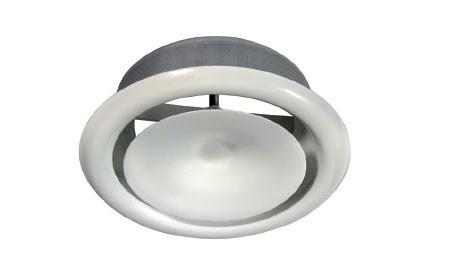Диффузор белый стальной для потолка SR-P д=125 мм