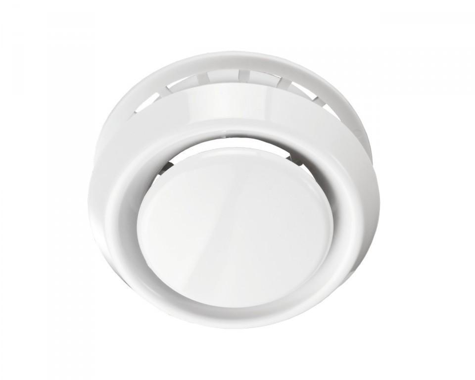 Анемостаты вытяжные круглые белые ABS А200ВРФ