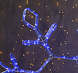 """Фигура дюралайт """"Снежинка"""" 65х65 см,120/20 LED, СИНИЙ-БЕЛЫЙ, фото 2"""
