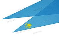 Голубой галстук герб шелк