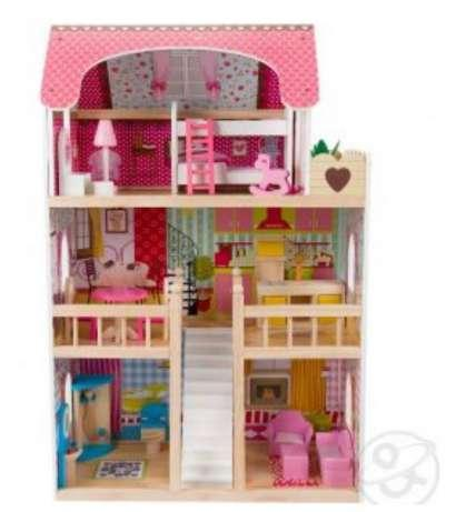 Кукольный дом с мебелью (90 см) Edufun EF4109