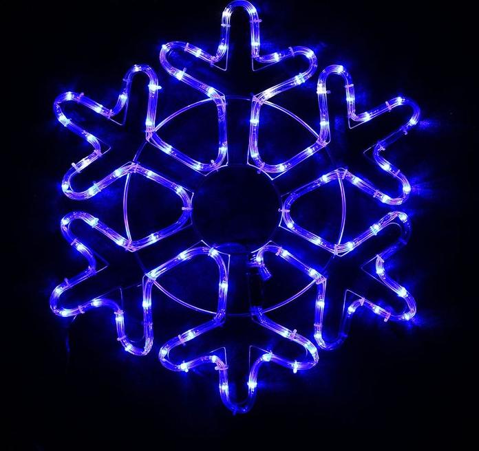 "Фигура дюралайт ""Снежинка"" 52х52 см,96/16 LED, СИНИЙ-БЕЛЫЙ"