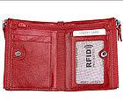 Кожаное портмоне от воровства с карточек RFID, фото 4
