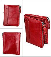 Кожаное портмоне от воровства с карточек RFID