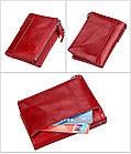 Кожаное портмоне от воровства с карточек RFID, фото 8