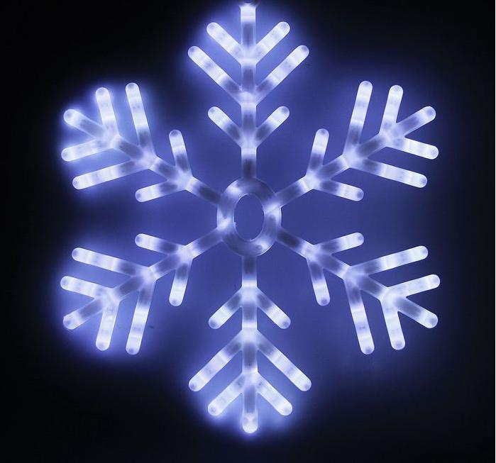 """Фигура """"Снежинка"""" d=57 см, пластик, 88 LED, 220V, МУЛЬТИ"""