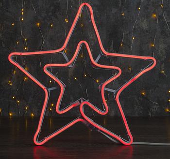 """Фигура из неона """"Звезда"""", 55 см, 3 метров, 360 LED, 220 В, КРАСНЫЙ"""