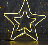 """Фигура неоновая """"Звезда двойная"""" 36х36 см, 240 LED, 220V, ТЕПЛЫЙ-БЕЛЫЙ , фото 4"""
