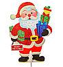 """Гирлянда """"Дед мороз"""", картонная, напольная,  58 см"""