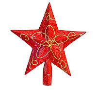 Гирлянда звезда на елку, красная, 17 см