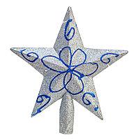 Гирлянда звезда на елку, белая, 17 см