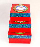 """Набор подарочных коробок """"Дед мороз в шаре"""", 16*9 см"""
