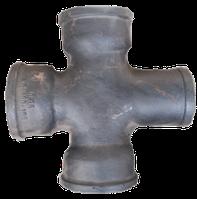 Крестовина чугунная канализационная 90*50*50