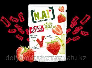 Безглютеновые Органические фруктовые полоски Клубника,35 грамм,производство Бельгия
