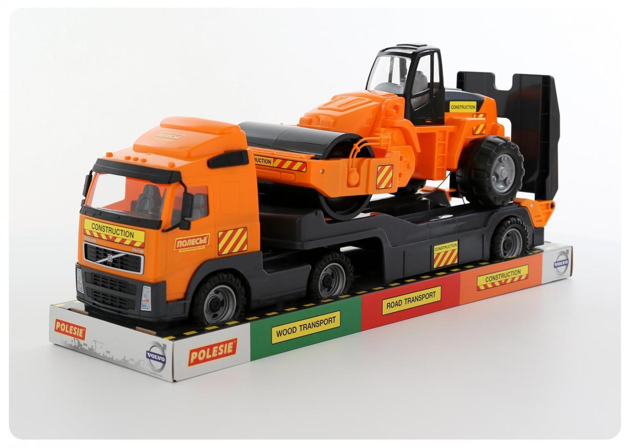 """""""Volvo"""", автомобиль-трейлер+дорожный каток (в лотке) 58416"""