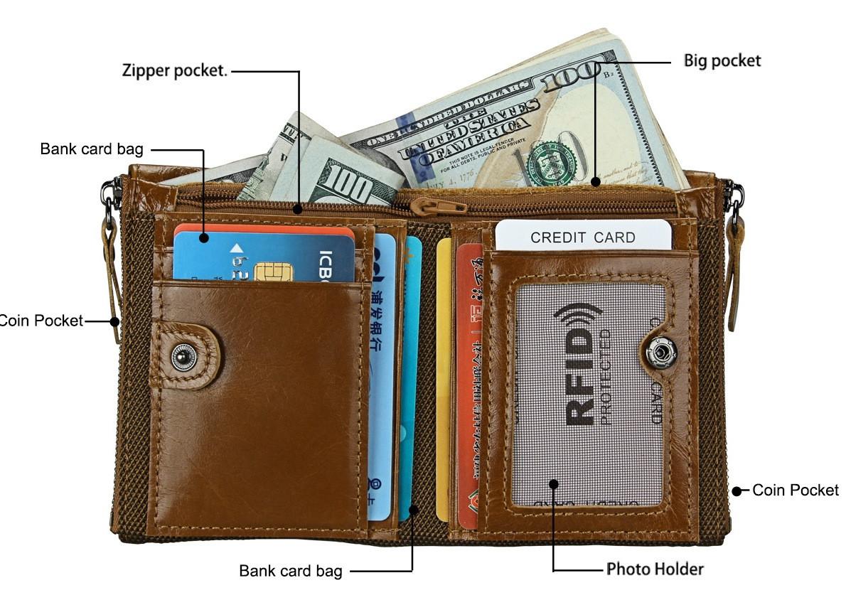 Кожаное портмоне RFID protected - отличный подарок