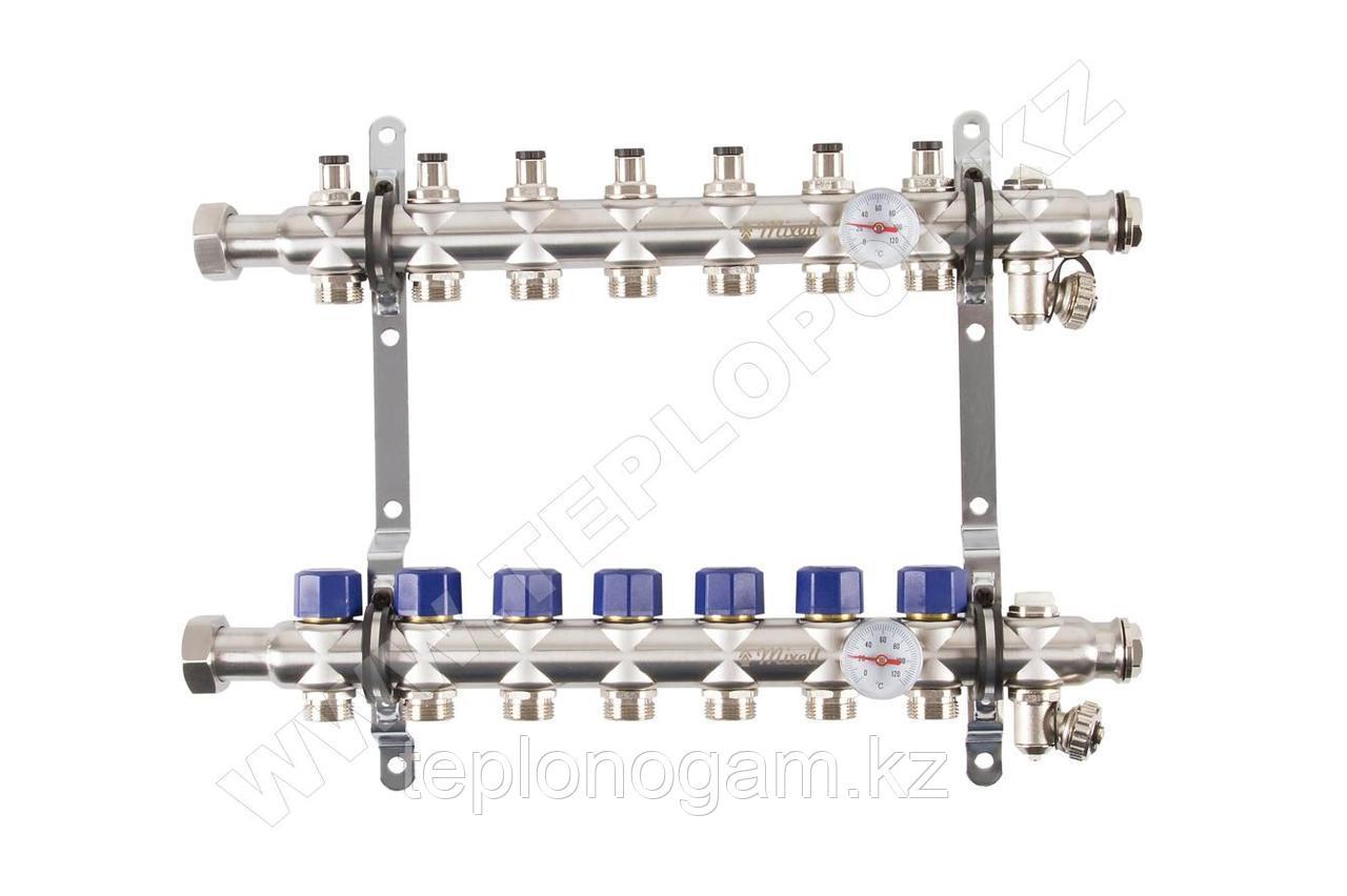 Распределительный коллектор Mixell из нержавеющей стали, 7 контуров