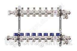 Распределительный коллектор Mixell из нержавеющей стали, 8 контуров