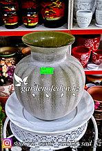 """Стеклянная, декоративная ваза """"Арбуз"""". Высота 25см."""