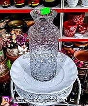 Стеклянная, декоративная ваза. Высота 25см. Цвет: Прозрачный.