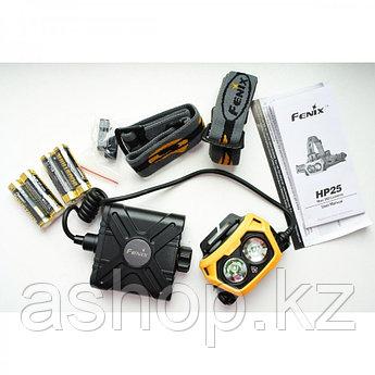Фонарь электрический налобный Fenix HP25, Дальность луча: 153 м, Яркость: Дальний свет: 180 (турбо), 90 (ярко)