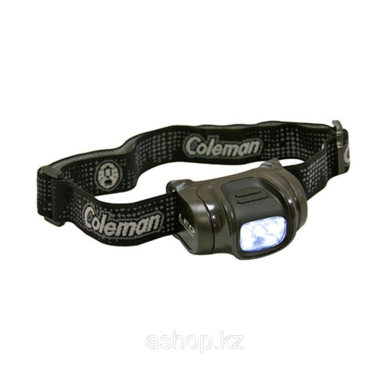 Фонарь электрический налобный Coleman 3AAA, Яркость: 33 лм, Цвет: Чёрный, Упаковка: Розничная, (2000023875)