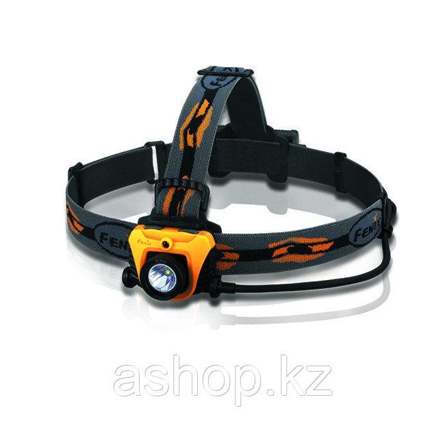 Фонарь электрический налобный Fenix HP01, Дальность луча: 102 м, Яркость: 210 (турбо), 105 (ярко), 45 (средне)