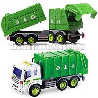 Детская музыкальная игрушка мусоровоз Wenyi зеленый