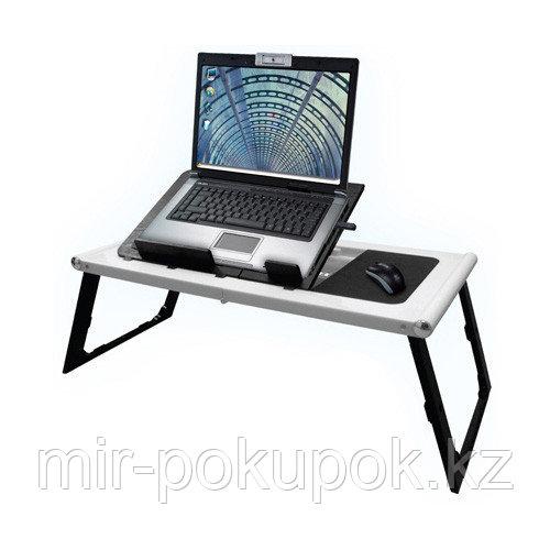 """Портативный складной столик для ноутбука """"Super Table"""" (Супер тэйбл) со встроенным кулером, Алматы"""