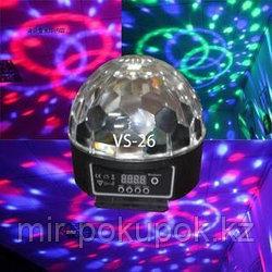 """Музыкальный светодиодный вращающийся диско-шар со встроенным MP3 плеером""""Crystal magic"""", Алматы"""
