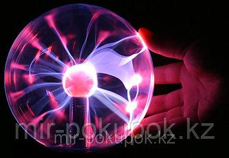 Плазменный шар с молниями (ночник) Plasma Light Magic Flash Ball, 10 см