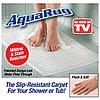 Распродажа! Впитывающий антискользящий коврик для ванны на присосках Aqua Rug, фото 2