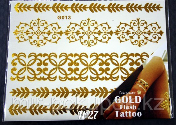 Временные Flash-татуировки (Флеш тату) в ассортименте