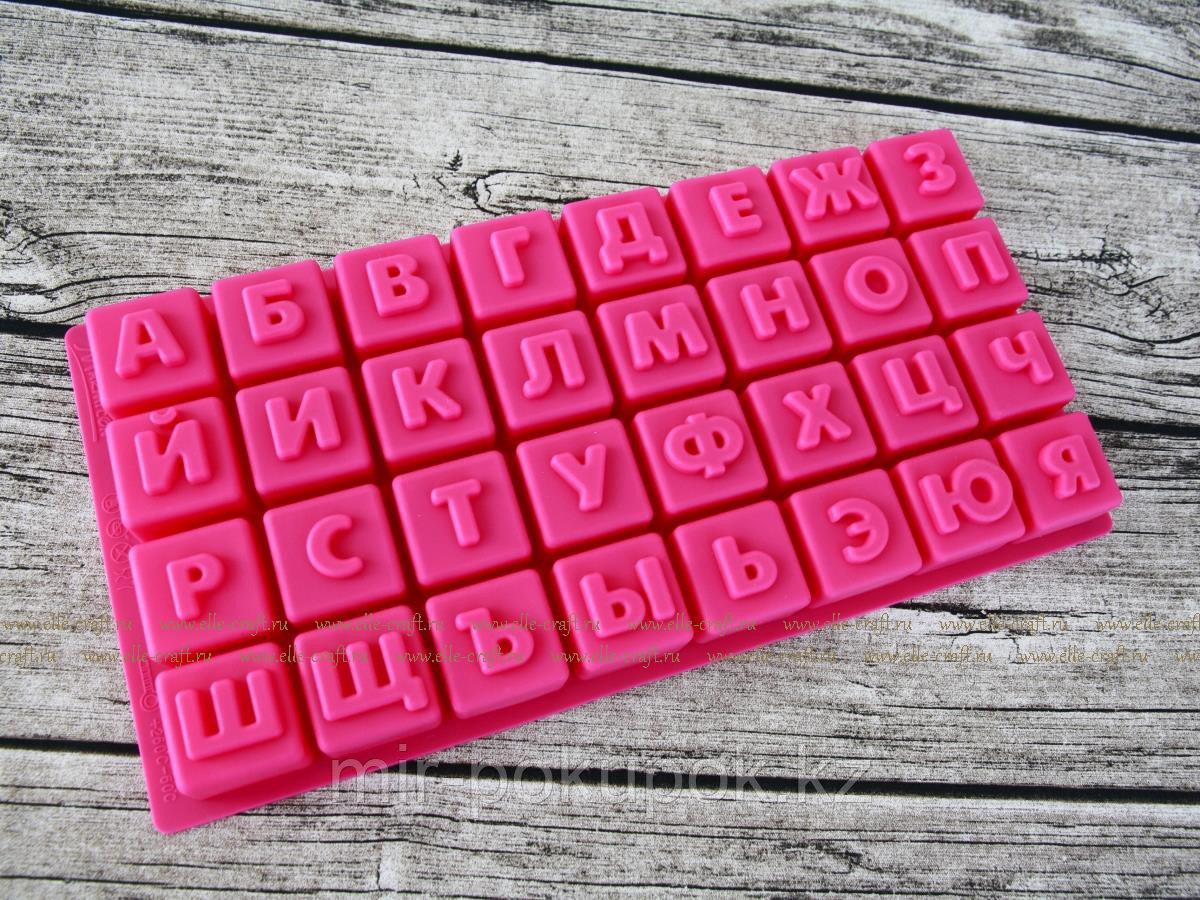 """Форма для выпечки """"Алфавит"""" из силикона, 32 ячейки, Алматы"""