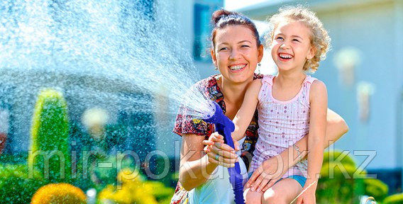 Универсальный шланг для полива Xhose (Икс-Хоз) увеличивающийся в 3 раза (длиной 15 м), Алматы