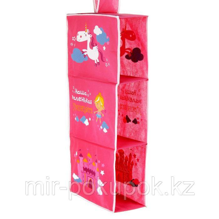 """Подвесные модули в шкаф """"Наша маленькая принцесса"""" (3 отделения), цвет розовый, Алматы"""