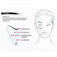 Трафарет для макияжа 4 в 1 (брови, глаза, румяна, контуринг лица)