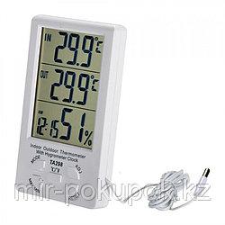 Домашняя метеостанция 4 в 1 (термометр уличный и домашний, гигрометр, часы), Алматы